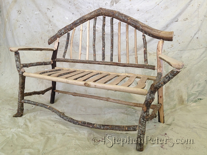 rustic arched Bench 1